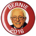 Bernie Sanders for President 2016 button
