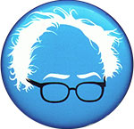 Bernie Sanders white hair button