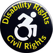 Disability Rights Civil rights button