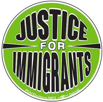 Justice for Immigrants sticker