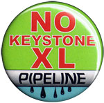 No Keystone XL Pipeline button
