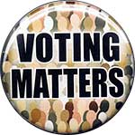 voting matters button