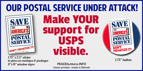 save the USPS sticker Support the USPS vinyl decal